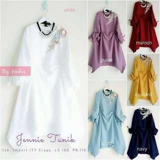 Jennie Tunik l atasan fashion baju tunik blouse bunga tunic wanita