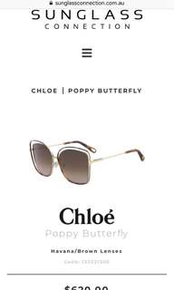 Chloe Poppy butterfly sunnies