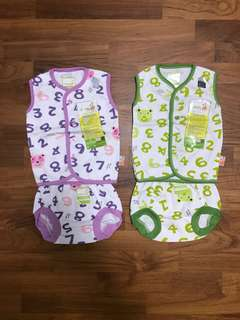0-3 months Sleeveless Baby's Set