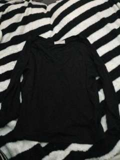 Zara Trafaluc loose black top