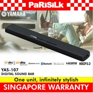Yamaha YAS-107 Digital Surround Sound Bar - Singapore Warranty