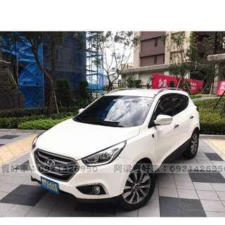 2015年- 現代 - ix35 (柴油.螢幕.八安)買車不是夢想.輕鬆低月付.歡迎加LINE.電(店)洽