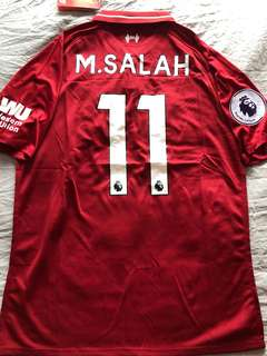 31b615c8a good new listingm.salah 11 liverpool home jersey wester union and ...