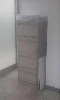 80年代 鐵製寫字樓四桶櫃…… 適合用來收藏或自行翻新
