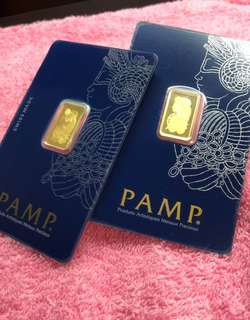 PAMP (2.5 grams) - Pure Gold Bar ❤️