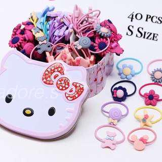🚚 Hello Kitty Tin With Mixed Color Rubber Band