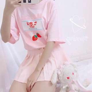 Korean style cute milk t shirt tee