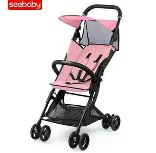 👶👪💞SEEBABY BABY STROLLER!! FOLDABLE, CABIN SIZE, SUPER LIGHTWEIGHT & PORTABLE FOR TRAVELLING/STORAGE IN THE CAR OR AT HOME, BABY PINK & BABY BLUE, FREE STROLLER ☔ RAINCOAT FOR EVERY PURCHASE WHILE STOCK LAST!!👶BABY CARRIER & DIAPER BAG AVAILABLE👶👪💞
