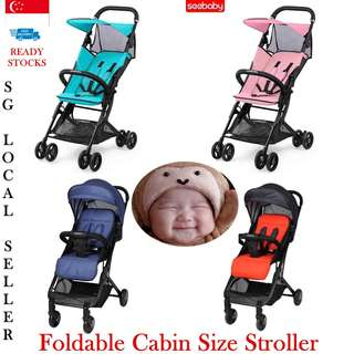 👶👪💞SEEBABY BABY STROLLER!! FOLDABLE, CABIN SIZE, SUPER LIGHTWEIGHT & PORTABLE FOR TRAVELLING/STORAGE IN THE CAR OR AT HOME, FREE STROLLER ☔ RAINCOAT FOR EVERY PURCHASE WHILE STOCK LAST!!👶BABY CARRIER & DIAPER BAG AVAILABLE👶👪💞