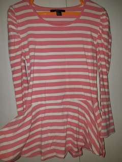 PINK STRIPE BY FOREVER 21