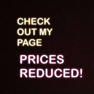 Price reductions on items!