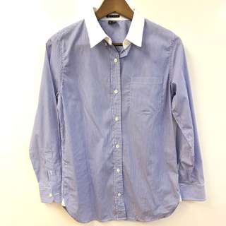 Theory blue and white shirt size S