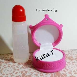 K : Crown Pink Box/Casings For Rings Pendants Earrings
