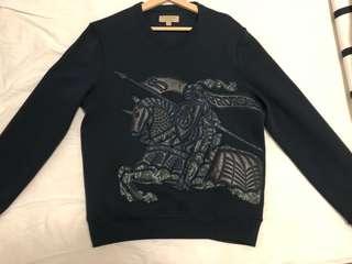 Burberry - Embroidered Knight (lambskin) Sweatshirt - size: Medium
