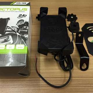 Motorcycle cellphone holder with Charger