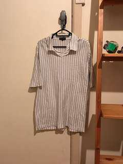 Vintage striped short sleeve polo tee
