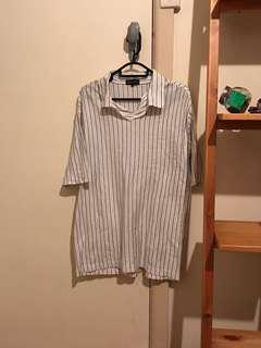 Vintage striped short sleeve polo tee
