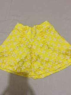 Gingersnaps Yellow Shorts