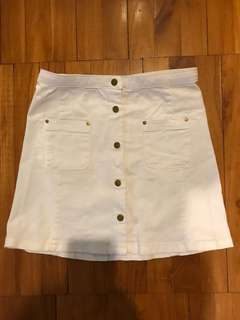 H&M white skirt size 9-10 years old