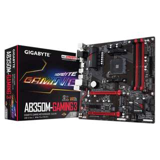 [SOLD] Gigabyte B350M Gaming 3 AM4 Micro-ATX Motherboard (For AMD Ryzen)