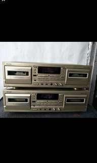 DENON Precision AUDIO Component/Double Cassette Deck @$80 Each