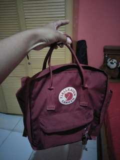 Tas Ransel Ukuran Medium Maroon Waterproof
