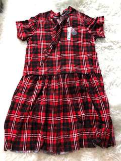 New Marc Jacobs tartan dress sz XS