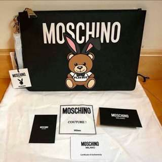 Moschino playboy 大 size  Clutch Bag (playboy bear 手包)