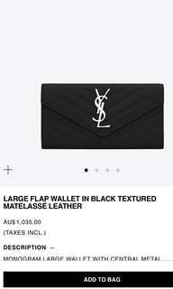 YSL Large flap wallet