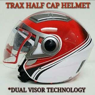 Trax Half cap helmet graphic