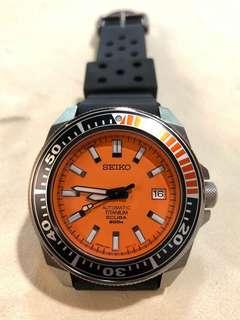 Seiko Prospex Orange Samurai Titanium SBDA005 橙武士 鈦金屬