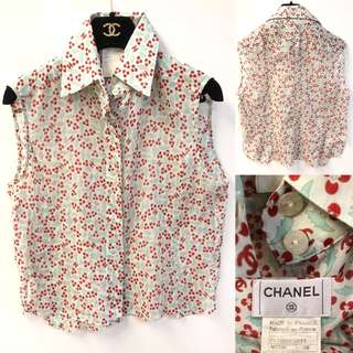 Chanel vintage flowers top size 38