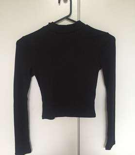 Black tight size 6 brand new never worn long sleeve top