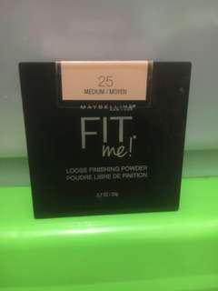 Maybelline fit me loose finishing powder shade 25 medium/moyen