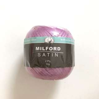 Satin lilac purple Color knitting and crochet thread yarn