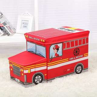 🚚 Fire Truck storage bag (can sit)