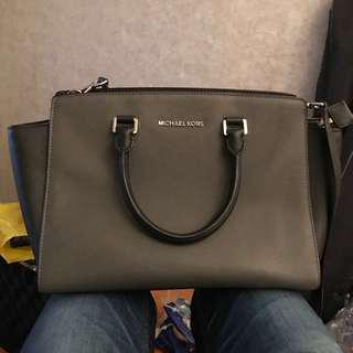 Michael Kors Handbag Selma Colourblock Black Grey authentic