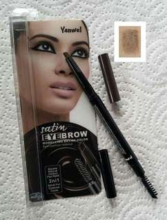 Yanwel Satin Retractable Eyebrow Pen