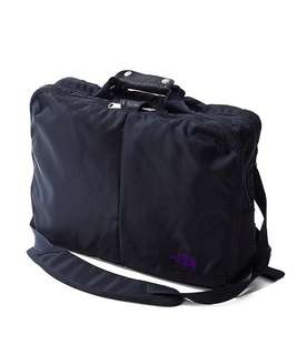 LIMONTA Nylon 3 way bag S navy north face purple label