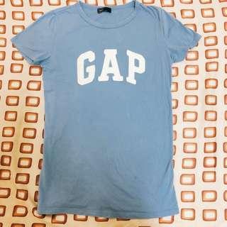 🚚 新Gap短袖 修身 水藍 春天款 全新