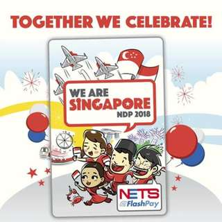 WE ARE SINGAPORE NDP 2018 National Day Nets Flashpay Card + FREE Post!