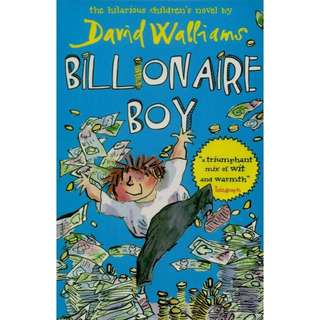 🚚 BILLIONAIRE BOY by David Walliams