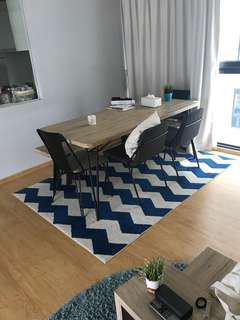 🚚 Blue Chevron Rug Carpet