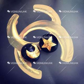 (Sold) Chanel vintage 星月耳夾