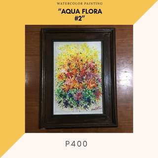 "Watercolor Painting - ""Aqua Flora #2"" (ready to hang)"