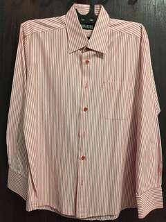 Kemeja stripes pink