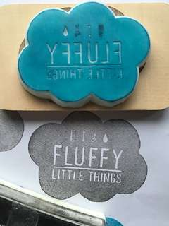 🚚 Customise logo name card rubber stamp