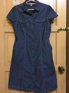 Short dress blue denim (sleeveless)