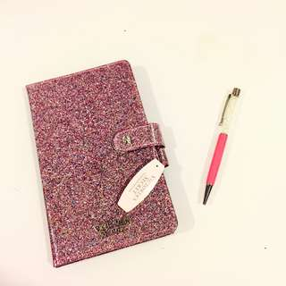 Victoria's Secret Glitter Journal Notebook