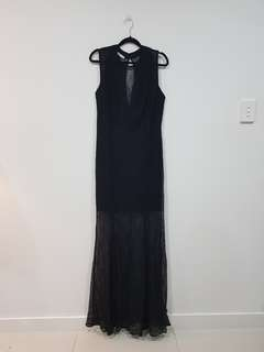 Black lace maxy dress